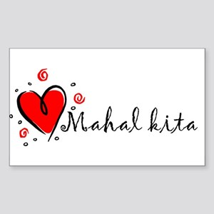 """I Love You"" [Tagalog] Rectangle Sticker"
